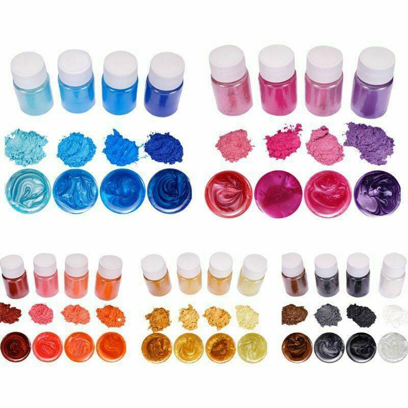 20 Colors Luminous Powder Resin Pigment Dye UV Resin Epoxy D