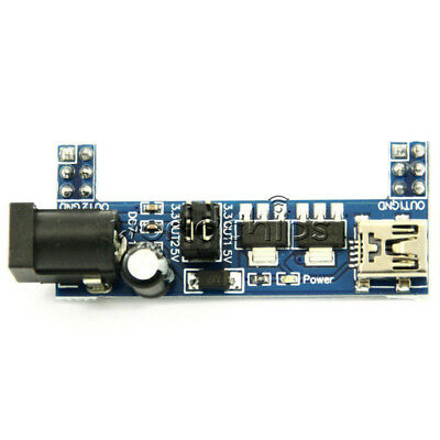 2pcs Mb102 Breadboard Power Supply Module 3.3v 5v Fsolderless Arduino Mini Usb