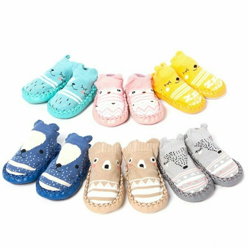 Infant Baby Girl Boy Toddler Anti-slip Warm Slippers Socks C