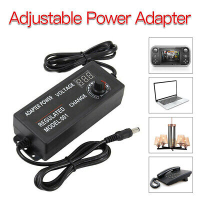 Adjustable Acdc Power Supply Adapter Charger Variable Voltage 3v-24v Universal