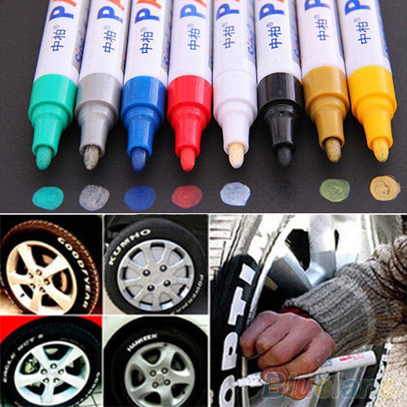 cars - 12 Colors Paint Pen Marker Car Tyre Tire Metal Permanent Pens Universal