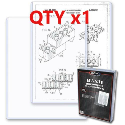 1 BCW 8.5 x 11 Photo /Print Hard Plastic Topload Holders Rigid Protector Sleeve