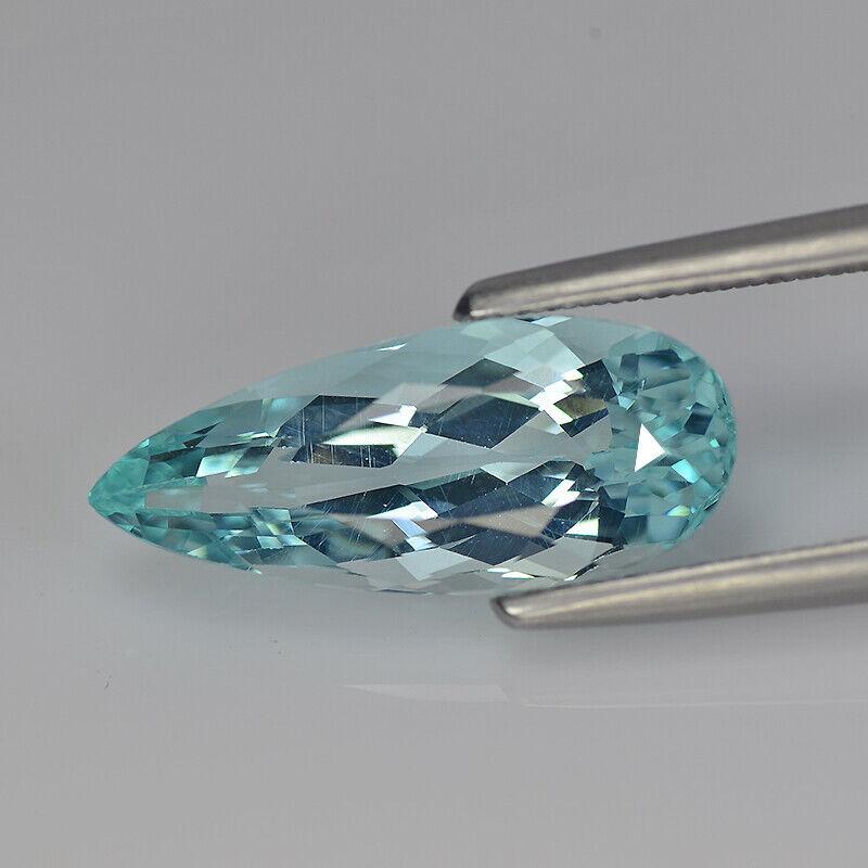 Natural Loose Apatite Paraiba Blue | Pear | 4.61 cts Gemstone