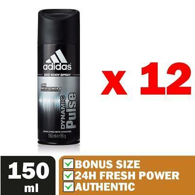 12 Pack ADIDAS DYNAMIC PULSE Deodorant Body Spray 150ml - FAST SHIP USA Seller ()