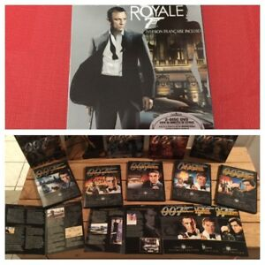 Coll. complete James Bond 007 DVD et Blue Ray - 120$