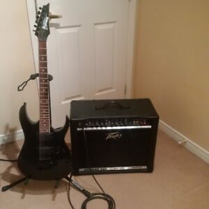Guitare Ibanez Gio et Ampli Peavy