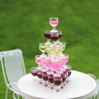 Mini Wine Glass Miniature Food Dollhouse 1:6 1:12 House Model Decor Supplies 2Pc (Mini Wine)