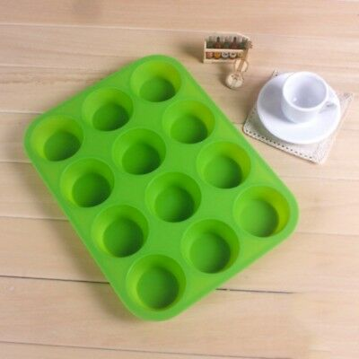 Cavity Muffin Pan Silicone Mini Cookies Cupcake Bakeware Baking Tray Mold 12 Cup (Bakeware Mini Muffin)