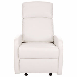 Kidiway Santa Maria Bonded Leather Glider - WHITE- NEW IN BOX