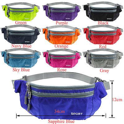Men Women Waterproof Fanny Pack Bag Travel Waist Sports Hiking Money Phone Pouch