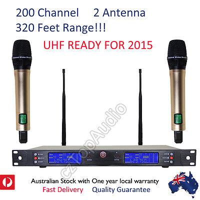 200 channel 2 handheld mics