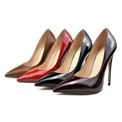 Women Elegant Pointy Toe Slip-On Evening High Heels Stilettos Dress Pumps Shoes