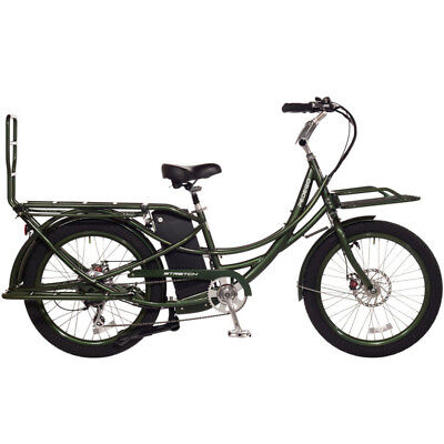 2018 Pedego Stretch Electric Cargo Bike eBike - Olive - 48V 13Ah Battery, New