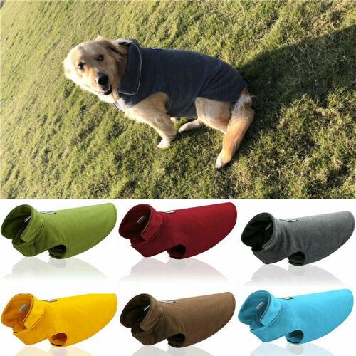 Fleece Haustier Kleidung Hundejacke Regenmantel Weste XS S M L XL 2XL 3XL