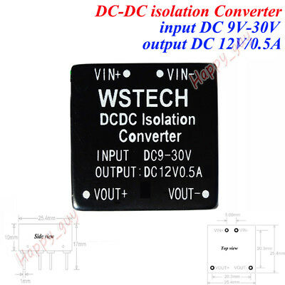Dc-dc Buck Step Down Isolated Converter 24v 12v To 12v 0.5a Power Supply Module