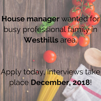 House Manager / Housekeeper Wanted for Professional Family