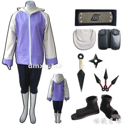 Anime Hyuga Hinata Cosplay Costume Uniform Purple Women Kids Halloween Full Set - Hinata Hyuga Halloween Costume