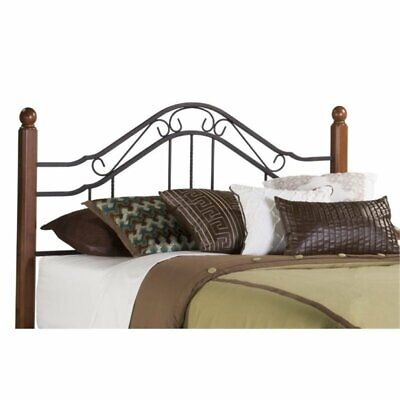Bowery Hill King Poster Spindle Headboard with Rails in Text