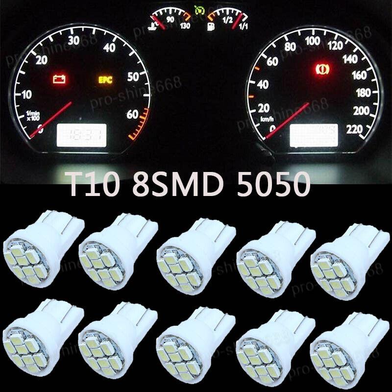 10x White LED 194 T10 168 Wedge Instrument Gauge Dashboar Lights Bulb For Olds