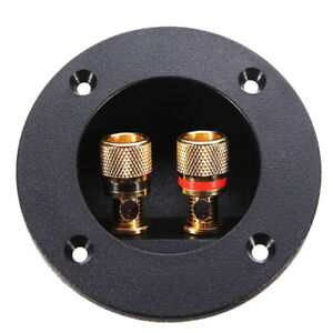 ROUND SUBWOOFER SPEAKER TERMINAL CONNECTOR CUP - BRAND NEW.