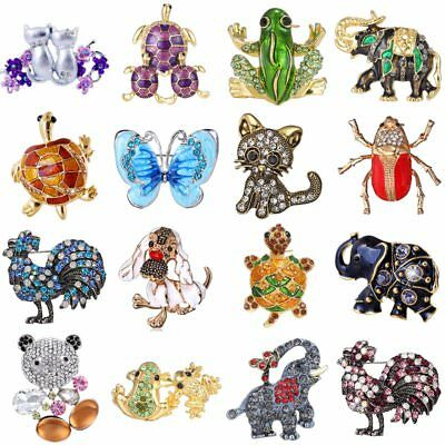 Frog Jewelry - Animal Frog Turtle Elephant Cat Dog Crystal Rhinestone Brooch Pin Women Jeweley