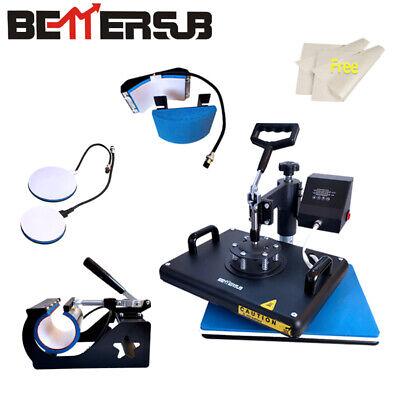 15x12 5in1 Combo Heat Press Machine Swing Away Transfer T-shirt Mug Hat Plate