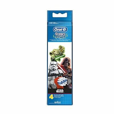 Oral B Stages Power Star Wars 4 Refill Heads New
