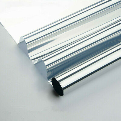 Silver Mirrored Window Film One Way Mirror Window Tint Privacy Protect for (Silver Tint)