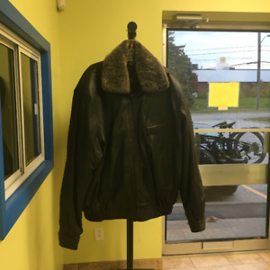 LEATHER MEN COAT NEW - 416-477-6875