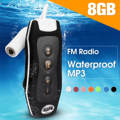 IPX8 Waterproof Sport MP3 Player FM Radio for Swimming Surfing Diving Headphone