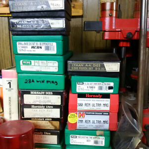 RELOADING DIES 30.00 TO 60.00 RCBS  LEE HORNADY