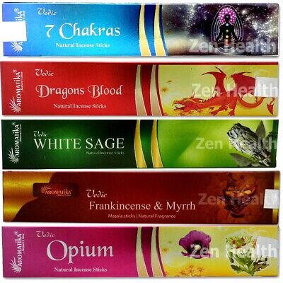 Vedic Incense Sticks Joss White Sage, Patchouli, Sandalwood - Buy 3 - Get 1 Free
