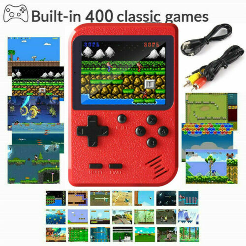 Mini Retro Handheld Box Game Console Built-in 400 Classic Games Boys Gift USA Video Game Consoles
