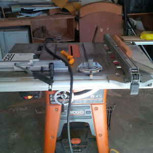 Ridgid Cabinetmakers Special, Tablesaw and Mitre Saw