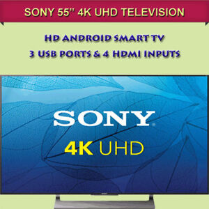"""BRAND NEW IN BOX 55"""" SONY 4K HD ANDROID SMART TV"""