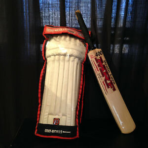 Cricket Gear - Batting Pads / Leg Guards And New Bat -NEW PRICE! Kitchener / Waterloo Kitchener Area image 1