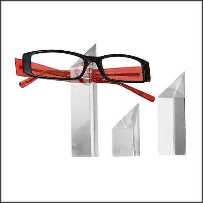 Optical Display - Prism-shaped Acrylic Eyeglass Display Mini Towers - Set Of 3