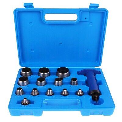 Henkel Locheisen Satz 14-tlg. 5-35 mm Set Stanzeisen Lochwerkzeug Stanz Werkzeug