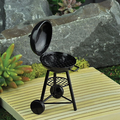 Miniature Fairy Garden Mini Kettle BBQ Grill 16886 Faerie  Dollhouse Fiddlehead