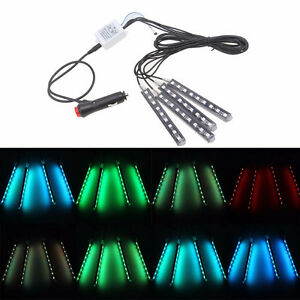 LED GLOW KIT 4 strips and remote RGB ANY COLOR