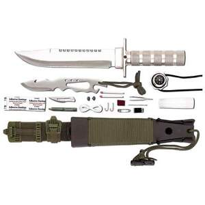 New 12pc Tactical Combat Survival Knife Sheath Compass Hunting Fishing Camping
