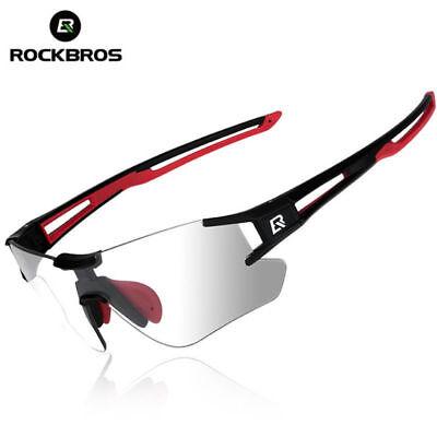 cc2b7ecd72c ROCKBROS Cycling Photochromatic Rimless Sunglasses Glasses UV400 Goggles