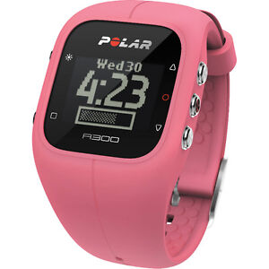 polar 300 pink with heart rate