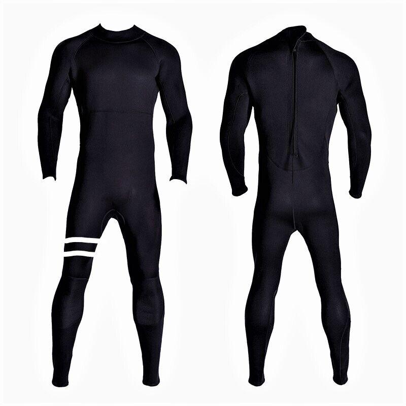 New 5/4/3 Black Back Zippper Wetsuit Neoprene Full Body Back