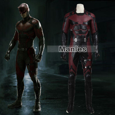 Men Daredevil Cosplay Matthew Michael Murdock Costume Halloween Fancy Dress Suit