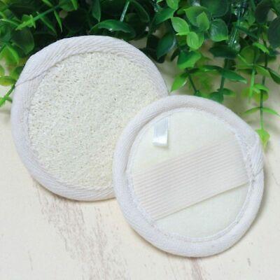 Loofah Luffa Facial Complexion Skin Disc Natural Bath Pads Elastic Holder Smooth Bath Complexion Discs