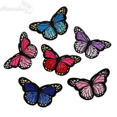 10pcs Embroidery Mixed Butterfly Sew Iron On Patch Badge Cloth Bag Applique DIY