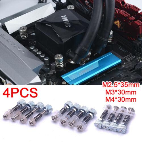 4 Stück Eisen-Festschrauben für CPU GPU Grafikkarte PC Computer WasserkühlungBPA