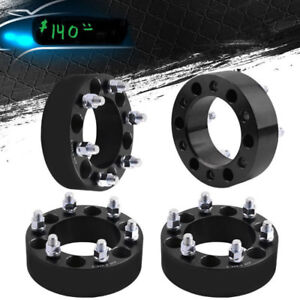 new  2 inch wide wheel spacer adapter gm 6 bolt 139.7 mm