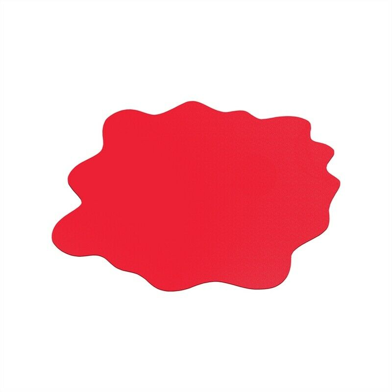 """CraftTex Sploshmat Play Mat Gripper-back for use on carpet Red 40"""" x 40"""" (max)"""